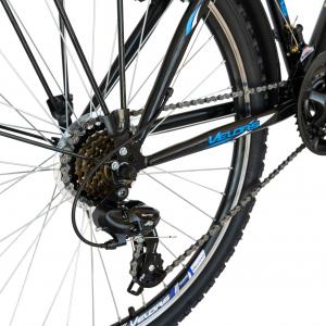 Bicicleta CITY Velors V2633B, roata 26 inch, echipare Shimano, 18 viteze, culoare negru/albastru6