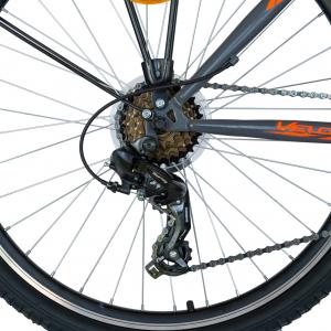 Bicicleta CITY Velors V2633B, roata 26 inch, echipare Shimano, 18 viteze, culoare gri/portocaliu [2]