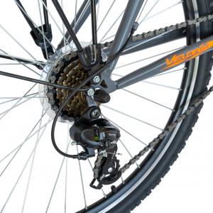 Bicicleta CITY Velors V2633B, roata 26 inch, echipare Shimano, 18 viteze, culoare gri/portocaliu [3]
