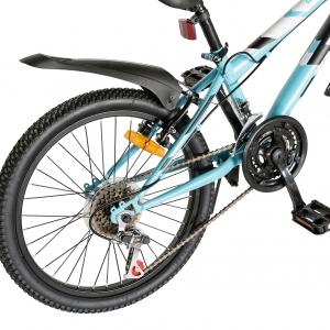 "Bicicleta copii 20"" LIFE A2030L, frana V-Brake,  18 viteze, varsta 7-10 ani, culoare albastru/alb3"