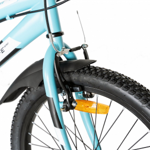 "Bicicleta copii 20"" LIFE A2030L, frana V-Brake,  18 viteze, varsta 7-10 ani, culoare albastru/alb2"