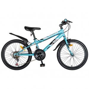 "Bicicleta copii 20"" LIFE A2030L, frana V-Brake,  18 viteze, varsta 7-10 ani, culoare albastru/alb0"