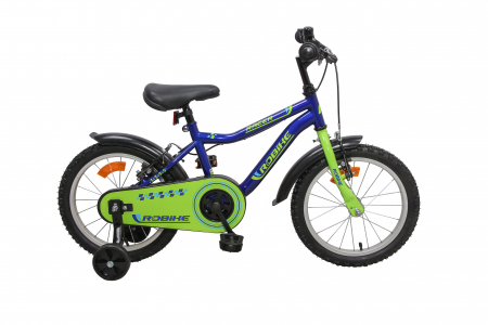 Bicicleta copii Robike Racer 16 albastru/verde [0]