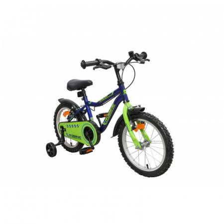 Bicicleta copii Robike Racer 16 albastru/verde [1]