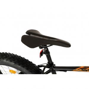 Bicicleta Fat Bike CARPAT Hercules 20 inch C2019B, frane mecanice disc, 6 viteze, culoare negru/portocaliu1