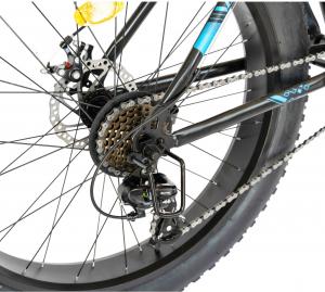 Bicicleta Fat Bike CARPAT Hercules 20 inch C2019B, frane mecanice disc, 6 viteze, culoare negru/albastru9