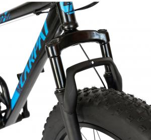 Bicicleta Fat Bike CARPAT Hercules 20 inch C2019B, frane mecanice disc, 6 viteze, culoare negru/albastru2
