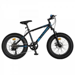 Bicicleta Fat Bike CARPAT Hercules 20 inch C2019B, frane mecanice disc, 6 viteze, culoare negru/albastru0