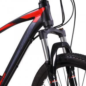 """Bicicleta MTB-HT Forever F26R7B, roata 26"""", cadru aluminiu, 27 viteze, culoare negru/rosu3"""