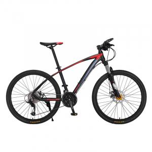 """Bicicleta MTB-HT Forever F26R7B, roata 26"""", cadru aluminiu, 27 viteze, culoare negru/rosu0"""