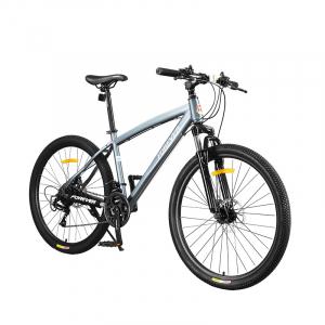 """Bicicleta MTB-HT Forever F26S1B, roata 26"""", cadru aluminiu, 27 viteze, culoare gri/alb2"""