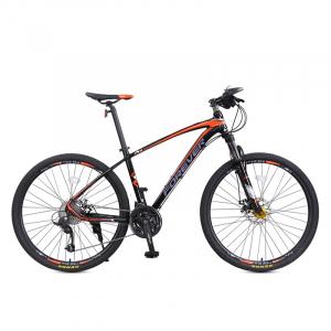 """Bicicleta MTB-HT Forever F27A9B, roata 27.5"""", cadru aluminiu, 27 viteze, culoare negru/rosu0"""