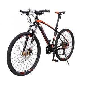 """Bicicleta MTB-HT Forever F27A9B, roata 27.5"""", cadru aluminiu, 27 viteze, culoare negru/rosu [2]"""