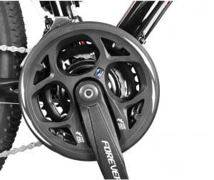 """Bicicleta MTB-HT Forever F27A9B, roata 27.5"""", cadru aluminiu, 27 viteze, culoare negru/rosu [3]"""
