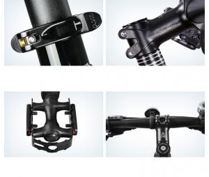 """Bicicleta MTB-HT Forever F27A9B, roata 27.5"""", cadru aluminiu, 27 viteze, culoare negru/rosu10"""