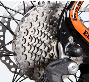 """Bicicleta MTB-HT Forever F27A9B, roata 27.5"""", cadru aluminiu, 27 viteze, culoare negru/rosu7"""