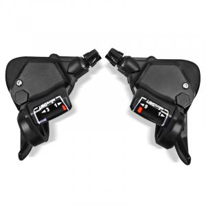 """Bicicleta MTB-HT Forever F27A9B, roata 27.5"""", cadru aluminiu, 27 viteze, culoare negru/rosu5"""