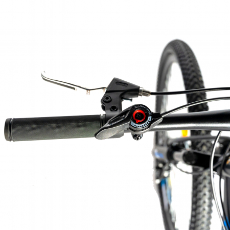 Bicicleta MTB-HT, Shimano Tourney TZ500D, 18 Viteze, Roti 27.5 Inch, Frane pe Disc, Velors CSV27/60D, Negru cu Design Albastru [10]