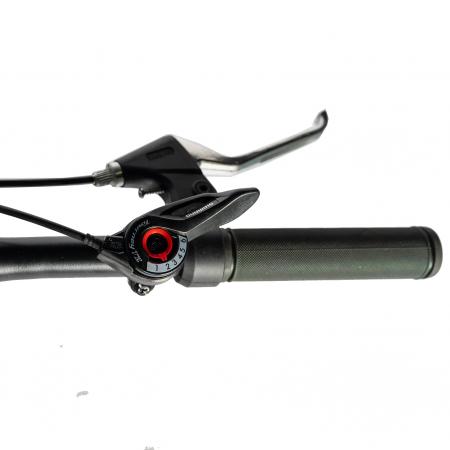 Bicicleta MTB-HT, Shimano Tourney TZ500D, 18 Viteze, Roti 27.5 Inch, Frane pe Disc, Velors CSV27/60D, Negru cu Design Albastru [11]