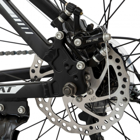 Bicicleta MTB-HT, Shimano Tourney TZ500D, 21 viteze, Roti 27.5 Inch, Cadru Aluminiu 6061, Frane pe Disc, Carpat CSC27/58C, Negru cu Design Alb/Albastru [5]