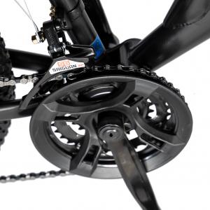 Bicicleta MTB-FS, Saiguan Revoshift 18 Viteze, Roti 24 Inch, Frane V-Brake, RICH CSR24/49A, Cadru Negru cu Design Albastru [4]