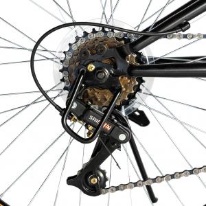 """Bicicleta munte, dubla suspensie, RICH R2649A, roata 26"""", frana V-Brake, 18 viteze, negru / rosu4"""