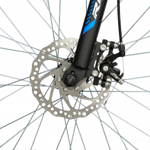 """Bicicleta munte, dubla suspensie, RICH R2750D, roata 27.5"""", frana disc, 18 viteze, negru/albastru9"""