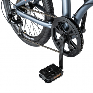 """Bicicleta pliabila 20"""" CARPAT C2052C, echipare SHIMANO 7 viteze, culoare gri/portocaliu [6]"""