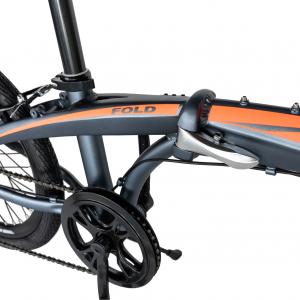 """Bicicleta pliabila 20"""" CARPAT C2052C, echipare SHIMANO 7 viteze, culoare gri/portocaliu [9]"""