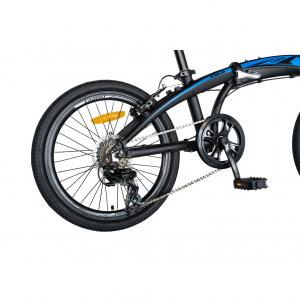 """Bicicleta pliabila 20"""" CARPAT C2052C, echipare SHIMANO 7 viteze, culoare negru/albastru4"""