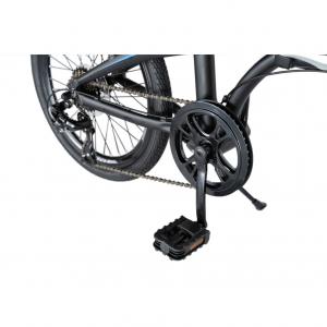 """Bicicleta pliabila 20"""" CARPAT C2052C, echipare SHIMANO 7 viteze, culoare negru/albastru5"""