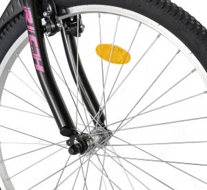 """Bicicleta TREKKING 24"""" RICH R2430A, 6 viteze, culoare negru/fucsia [9]"""