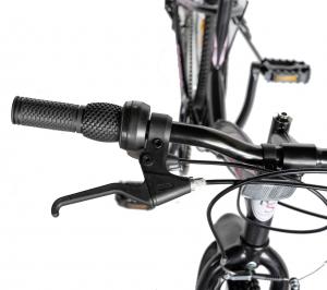 """Bicicleta TREKKING 24"""" RICH R2430A, 6 viteze, culoare negru/fucsia [12]"""