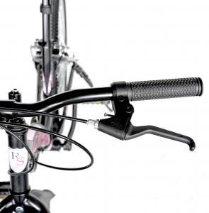 """Bicicleta TREKKING 24"""" RICH R2430A, 6 viteze, culoare negru/fucsia [11]"""