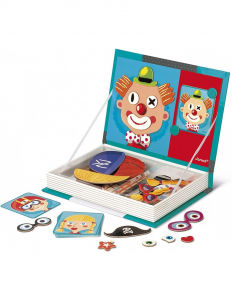 Carte magnetica Puzzle - Crazy Faces 12 planse2