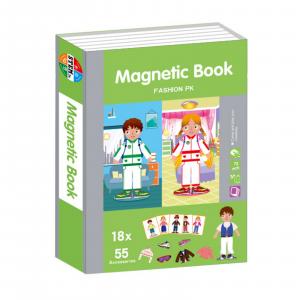 Carte magnetică Joc Educativ STEM, Fashion0