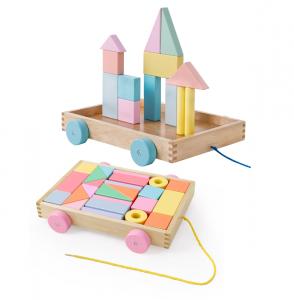 Cărucior cuburi lemn Block and Roll ONSHINE [0]