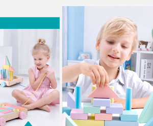 Cărucior cuburi lemn Block and Roll ONSHINE [7]