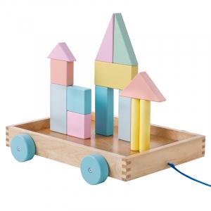 Cărucior cuburi lemn Block and Roll ONSHINE [1]
