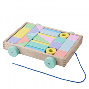 Cărucior cuburi lemn Block and Roll ONSHINE [2]