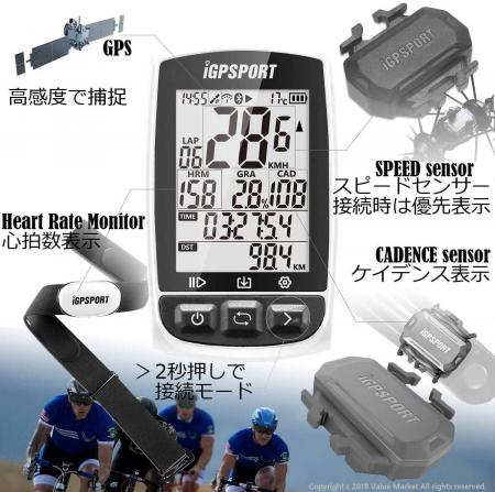 Ciclocomputer pentru bicicleta cu GPS, iGPSPORT iGS50E [4]