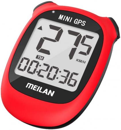 Ciclocomputer GPS pentru bicicleta Meilan M3 mini, Baterie reincarcabila 400 mAh, Rezistenta la apa IPX5, Ecran LCD (Rosu) [1]