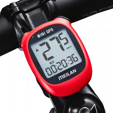 Ciclocomputer GPS pentru bicicleta Meilan M3 mini, Baterie reincarcabila 400 mAh, Rezistenta la apa IPX5, Ecran LCD (Rosu) [2]