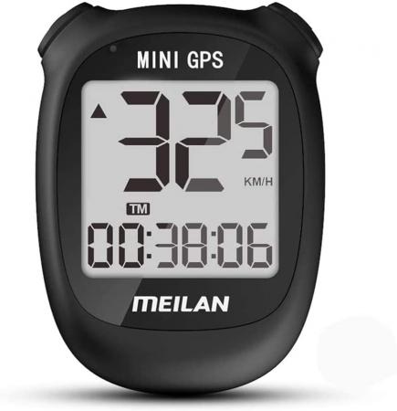 Ciclocomputer GPS pentru bicicleta Meilan M3 mini, Baterie reincarcabila 400 mAh, Rezistenta la apa IPX5, Ecran LCD (Negru) [0]