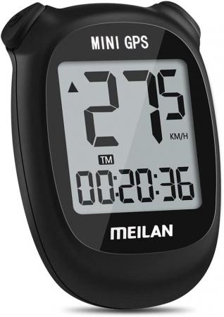 Ciclocomputer GPS pentru bicicleta Meilan M3 mini, Baterie reincarcabila 400 mAh, Rezistenta la apa IPX5, Ecran LCD (Negru) [1]