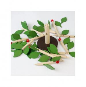 Copac Montessori din lemn MSN, + 3 ani, Verde, 35 x 35 cm1