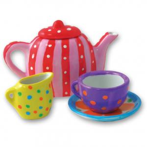 Set ceramică Pictează un set de ceai [5]