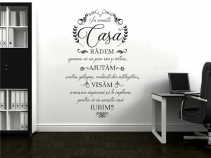 Sticker decorativ IN ACEASTA CASA RADEM1