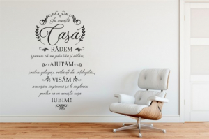 Sticker decorativ IN ACEASTA CASA RADEM0