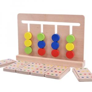 Joc lemn Montessori - labirint cu asociere de culori0